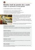 Metaflex heeft de panelen die u zoekt: volgens uw specificaties op ... - Page 2