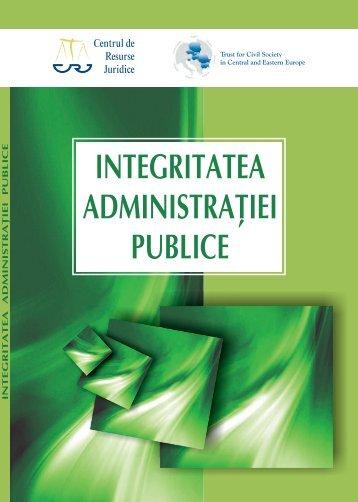 Raport privind integritatea administratiei publice - Valerian Stan