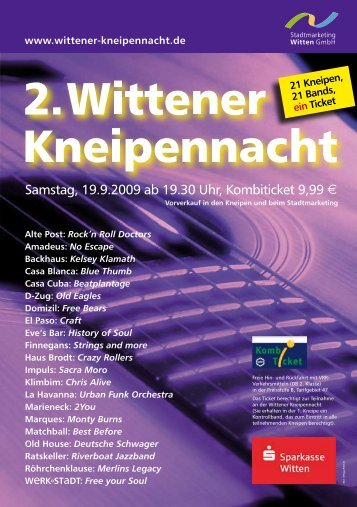21 Kneipen – 21 Bands – 1 Ticket