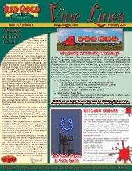 February 2010 Vine Lines Newsletter - Red Gold