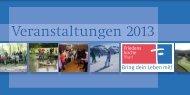 Veranstaltungsflyer 2013 - Friedenskirche Marl