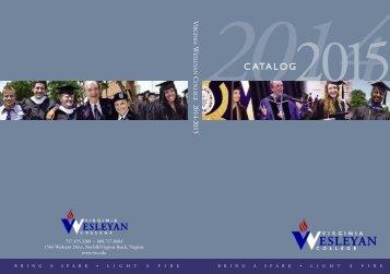 Catalog - Virginia Wesleyan College