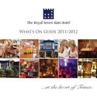 What's On Guide 2011/2012 - Restaurants in Devon