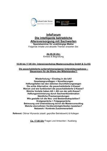 InfoForum Die intelligente betriebliche Altersversorgung mit ...
