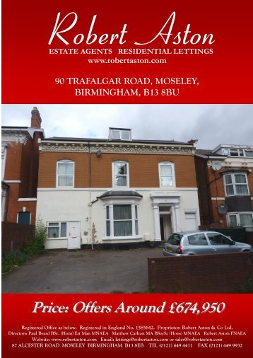 90 trafalgar road, moseley, birmingham, b13 8bu