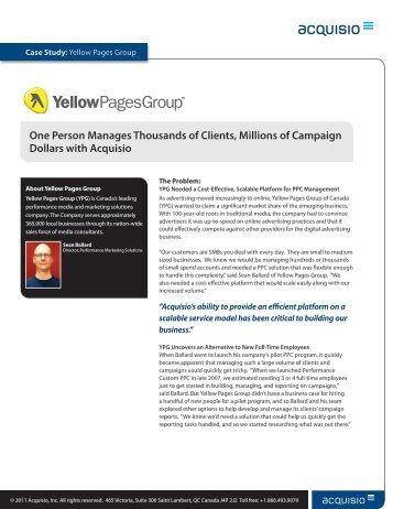 Case Study: Yellow Pages Group - Acquisio