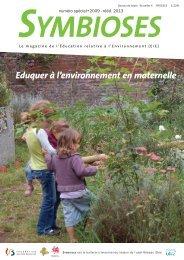 Eduquer à l'environnement en maternelle - Symbioses