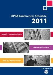 CIPSA Conferences Schedule