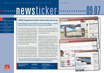 WEKA Computerzeitschriften-Verlag richtet sich neu aus