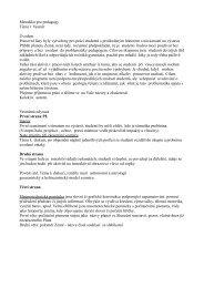 Metodika pro pedagogy Téma 1 Vesmír Úvodem Pracovní listy byly ...