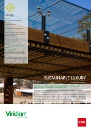 SUSTAINABLE LUXURY - Viridian