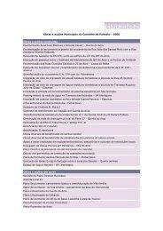 Obras e acções Municipais no Concelho de Palmela - 2006
