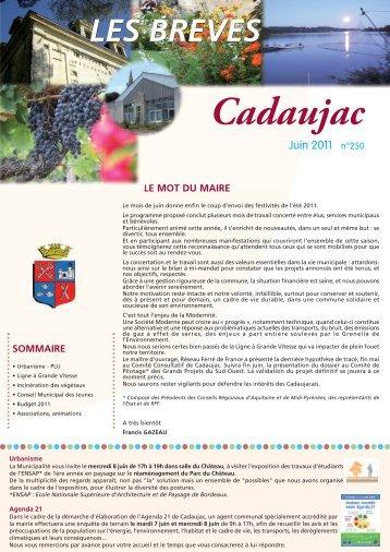 Journal Municipal juin 2011 (pdf - 1.9 Mo) - Ville de Cadaujac