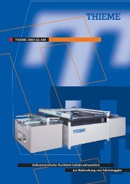 THIEME 3000 GS AM Vollautomatische Flachbett - H.mantel AG