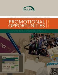 PROMOTIONAL OPPORTUNITIES 2011 guide - Nailba