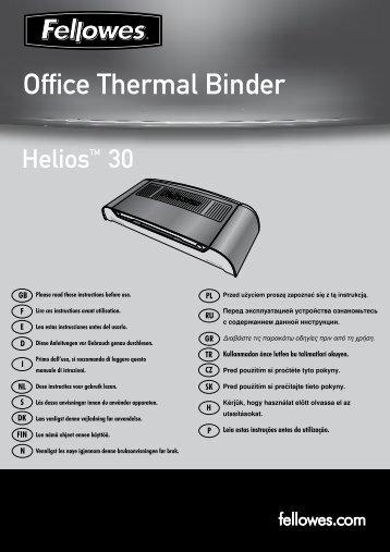 Helios 30 Bedienungsanleitung - Fellowes