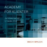 ACADEMY FOR KLIENTER - Bech-Bruun