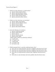 Practise Exam Chapter 4 1. Which one of the following is a ...