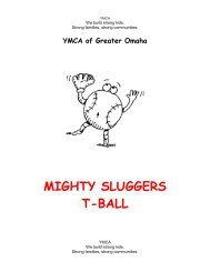 Weekly Practice Plans for T-Ball Coaches - Youth Sports YMCA