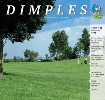 nummer 74 december 2008 Clubblad van de Westfriese Golfclub