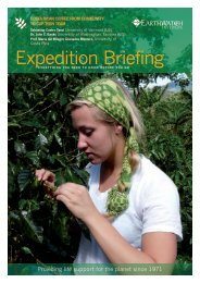 Download Briefing - Earthwatch Institute