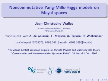 Noncommutative Yang-Mills-Higgs models on Moyal spaces