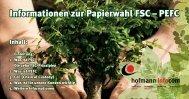 Informationen zur Papierwahl FSC – PEFC
