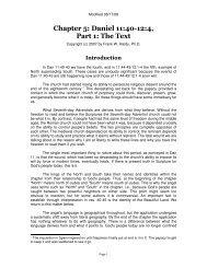 Chapter 5: Daniel 11:40-12:4, Part 1: The Text - Historicism.org