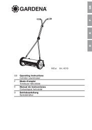 OM, Gardena, Cylinder Lawnmower, Art 04019-20 ... - Gardena.com