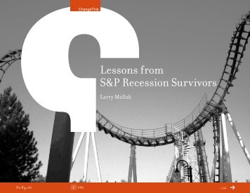Lessons from S&P Recession Survivors - ChangeThis