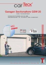 Garagen Sectionaltore GSW 20