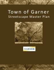 Streetscape Master Plan - Town of Garner
