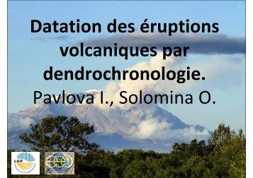 Datation des éruptions volcaniques par dendrochronologie ... - Edytem