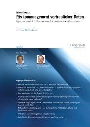 Risikomanagement vertraulicher Daten - IT & LAW Consulting GmbH