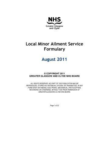 Community Pharmacy Minor Ailment Scheme ... - GGC Prescribing
