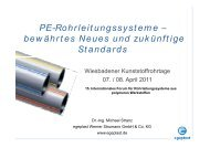 PE-Rohrleitungssysteme – bewährtes Neues und ... - Egeplast