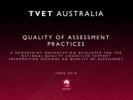 Quality of Assessment Practice - National Skills Standards Council
