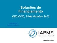 Instrumentos de Financiamento - Projeto