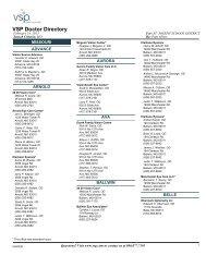 VSP Doctor Directory - St. Joseph School District