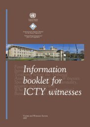 Information Booklet for ICTY Witnesses