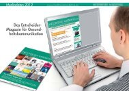 Healthcare Marketing Mediadaten 2012 - New Business Verlag