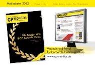 CP-Monitor Mediadaten 2012 - New Business Verlag
