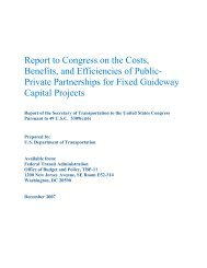 Report to Congress on the Costs, Benefits, and Efficiencies of Public ...