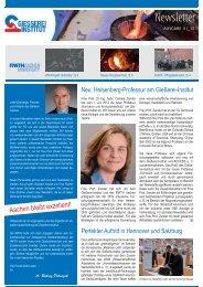 Ausgabe 1 2012 - Gießerei-Institut der RWTH Aachen