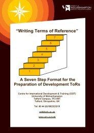 Terms of Reference Handbook - University of Wolverhampton