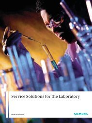 Service Solutions for the Laboratory (pdf) - Siemens
