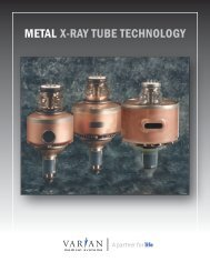 METAL X-RAY TUBE TECHNOLOGY - Varian