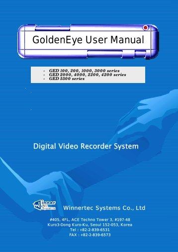 GoldenEye User Manual