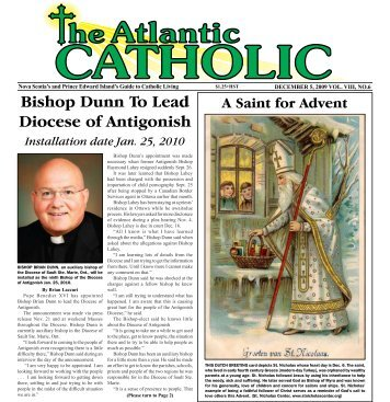 Atlantic Catholic Dec 5, 2009 - Diocese of Antigonish