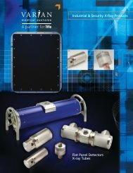 Flat Panel Detectors X-ray Tubes  Industrial & Security X ... - Varian